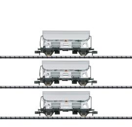 """N   Minitrix 15511 - NS, Set goederenwagens """"zijlossers"""""""