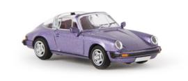 H0 | Brekina 16355 - Porsche 911 Targa G-Reihe, blackberry-metallic