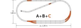 H0 | Roco 61102 - Track set C