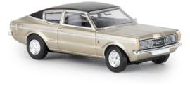 H0   Brekina 19207 - Ford Taunus Coupe GXL, gold/black.