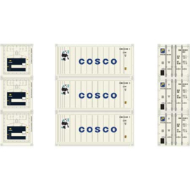H0 | Athearn ATH28849 - 20' Reefer Container, Cosco (3)