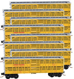 N | Micro Trains 99300809 - 40' Union Pacific Stock Car (Set of 8)