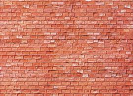 H0   Faller 170613 - Muurplaat, Zandsteen, rood
