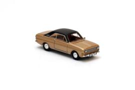 H0 | NEO 87331 - 1968 Ford Taunus P6 15M - Gold Metallic / Brown Roof