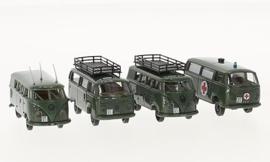 H0   Brekina 99289 - 2 VW T2 & 2 VW T1b, Swiss militair