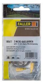 Z | ALG | Faller 180677 - 3 Mini draadlampjes, wit