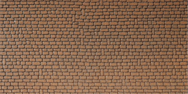 H0   Faller 170611 - Muurplaat, Zandsteen, rood