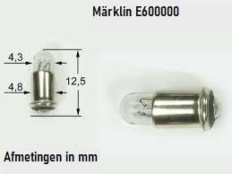 H0 | Märklin E600000.1 - Gloeilamp, helder, steekfitting (1 stuks)