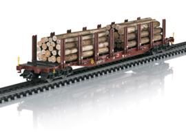 H0 | Märklin 47146 - DB AG, Set rongenwagens houtvervoer