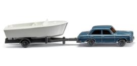 N | Wiking 092139 - Twee auto's met bootaanhanger