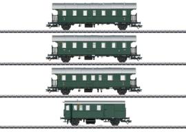 H0 | Märklin 43146 - DB, Set personenrijtuigen met stuurstandwagen