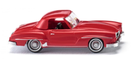 H0   Wiking 025301 - MB 190 SL Coupé - traffic red (1)