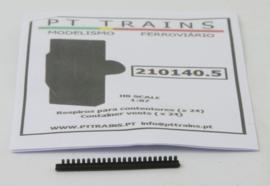 H0   PT Trains 210140.5 - Set met 24 container ventilatoren, zwart