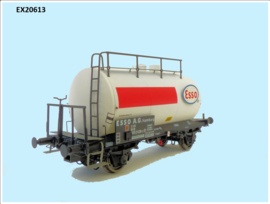 H0   Exact Train EX20613 - DB, 30m3 Uedinger ketelwagen ESSO wit/rood