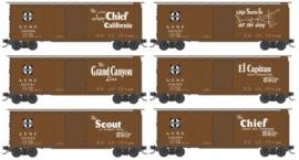 N | Micro Trains 99301410 - 40' Single-Door Boxcar 5-Car Runner Pack