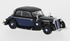 H0 | Ricko 38580 - Horch 930V Cabriolet, blue/ black, 1939, top closed.