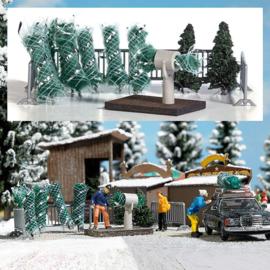 H0   Busch 1182 - Kerstbomenverkoop