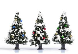 H0 | Busch 6464 - 3 besneeuwde kerstbomen
