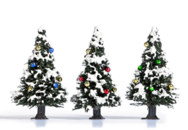 H0 | Busch 6464 - 3 snowy Christmas trees