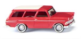 H0   Wiking 007149 - Opel Rekord '61 Caravan, rood (1)