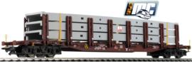 H0   Märklin 47140 - Rongenwagen Snps 719 beladen met 3 Max Bögl parkeergaragedelen