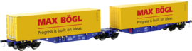 H0 | Mehano 58958 -Articulated double pocket wagon Sggmrss 90 blue ERR