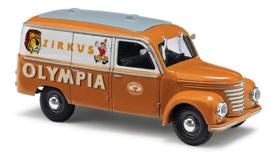 "H0 | Busch 51214 - Framo V901/2 bestelbus, ""Zirkus Olympia"""