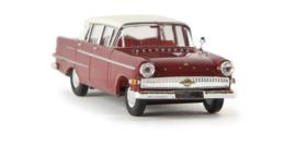 H0 | Brekina 20811 - Opel Kapitän P 2.6, purplish red/white. (TD - model)