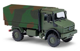 H0 | Busch 51021 - MB Unimog U 5023, Military in camouflage colors.