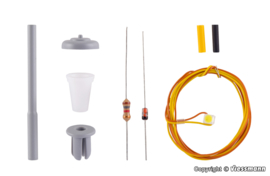 N | Viessmann 6621 - Straatverlichting, witte LED, kit