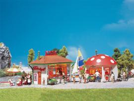 H0 | Faller 120135 - Kiosk en paddestoelkiosk