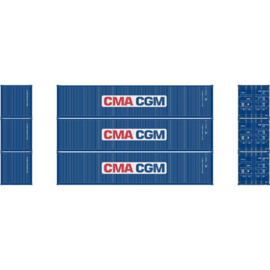 H0 | Athearn ATH27158 - 40' Low-Cube Container, CMA-CGM (3)