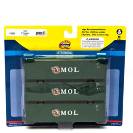 H0 | Athearn ATH2820 - Container 3 Pack 40' – MOL