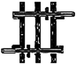 H0 | Märklin 2204 - Recht railstuk (K-rail)