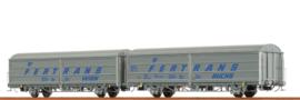 "H0 | Brawa 48980 - ÖBB, Schuifwandwagen HBIS ""Fertrans"", 2-delige set"