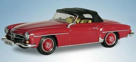 H0 | Ricko 38493 - Mercedes-Benz 190 SL convertible closed,red, 1961
