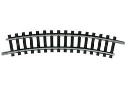 N | Minitrix 14914 - Gebogen rail R1, 15°