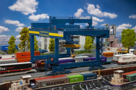 H0 | Faller 120291 - GVZ Port Nuremberg Container bridge-crane
