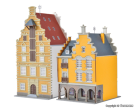 N | Kibri 37154 - Middle-class houses Tournai, 2 pieces