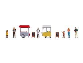 H0 | NOCH 16229 - IJs en Hot Dog wagen