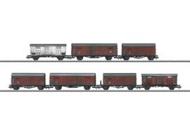 H0 | Märklin 47367 - DB/FS, Set goederenwagens bij serie V 188