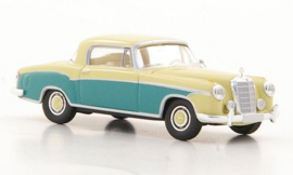 H0 | Brekina Starmada 13507 - Mercedes 220 S Coupe (W180 II), llight beige/green