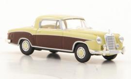 H0 | Brekina Starmada 13506 - Mercedes 220 S Coupe (W180 II), licht beige/ bruin