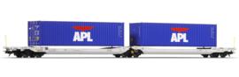 H0 | Esu 36544 - AAE, containerwagen Sdggmrs, APL