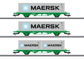 H0 | Märklin 47726 - SJ,  Set containerwagens Lgns