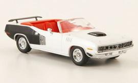 H0 | Ricko 38483 - Plymouth HEMI Cuda Convertible, white/Decor, 1971