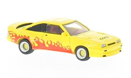H0   BoS-Models 87246 - Opel Manta B Mattig, yellow/Dekor, 1991
