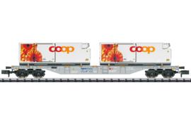 "N | Minitrix 15491 - SBB, Containerwagen ""coop®"""