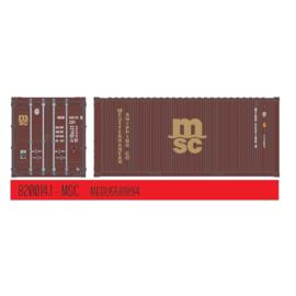 "H0   PT Trains 820014.1 - 20ft. Container ""MSC"""