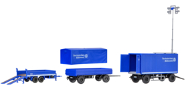 H0 | Kibri 18472 - THW set of trailers
